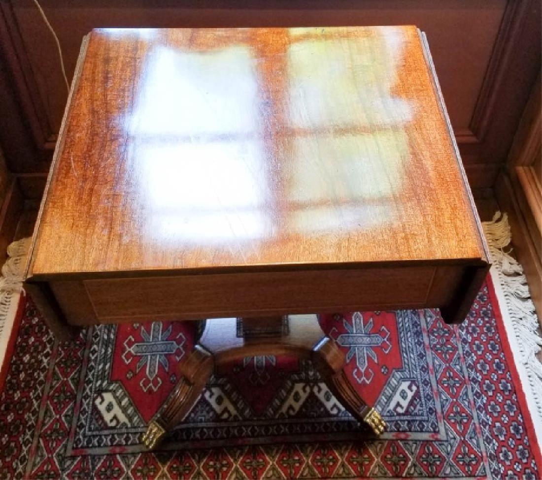 English Georgian Style Drop Leaf End Table - 3