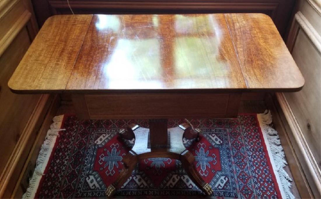 English Georgian Style Drop Leaf End Table - 4