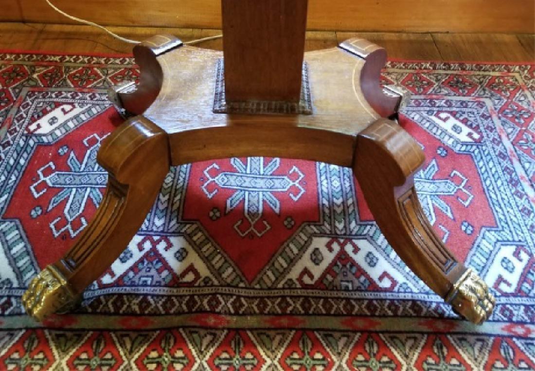 English Georgian Style Drop Leaf End Table - 5