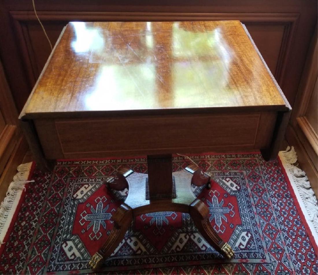 English Georgian Style Drop Leaf End Table - 7