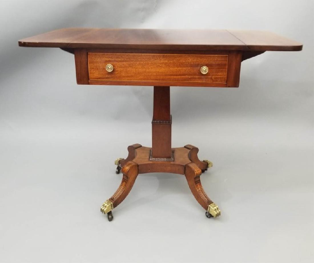 English Georgian Style Drop Leaf End Table - 9
