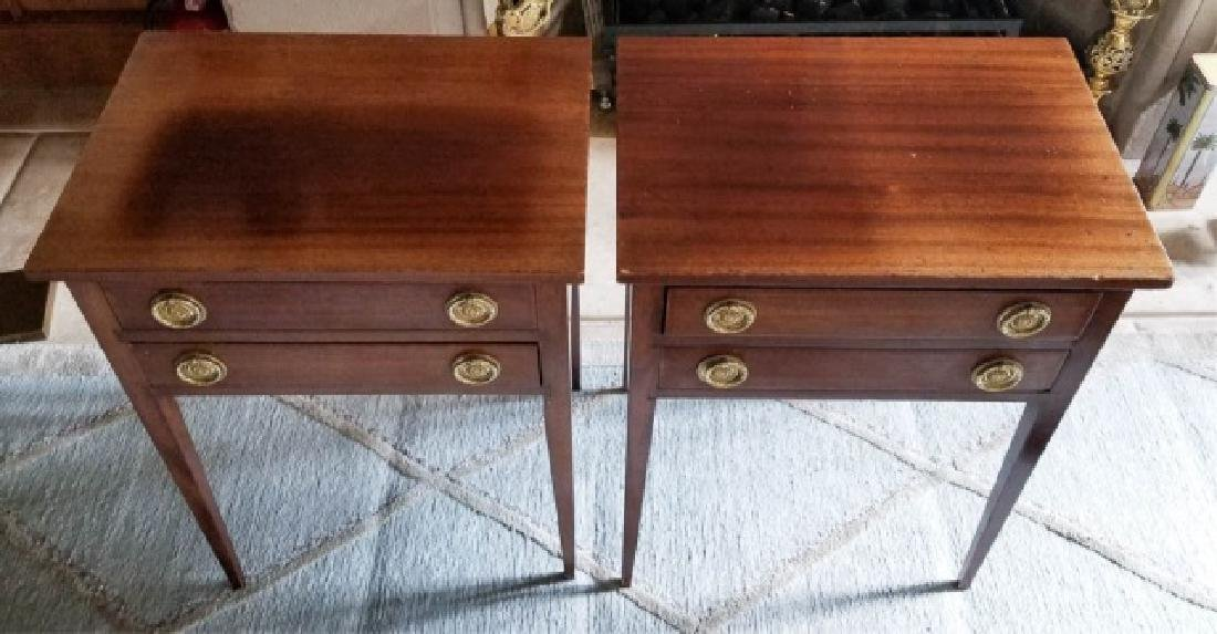 Pair English Style End Tables or Night Stands
