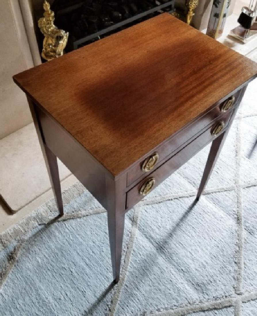 Pair English Style End Tables or Night Stands - 5