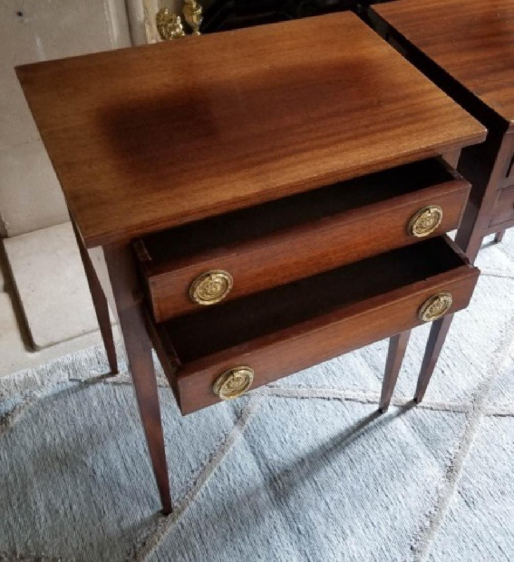 Pair English Style End Tables or Night Stands - 6