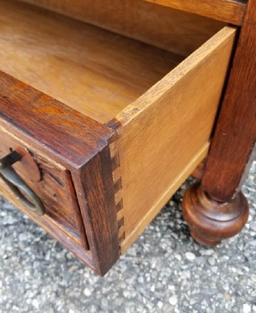 Antique English Jacobean / Tudor Cupboard Cabinet - 2