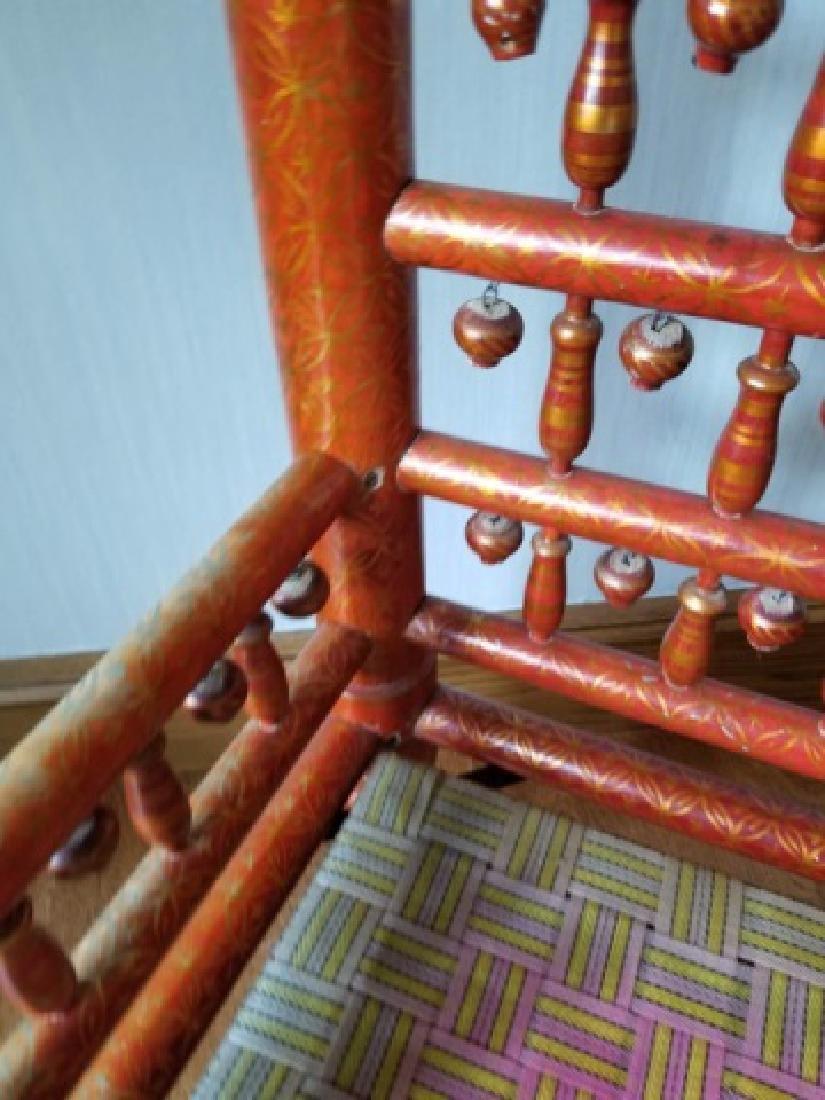 Pair Antique Handmade Punjabi Style Wedding Chairs - 2
