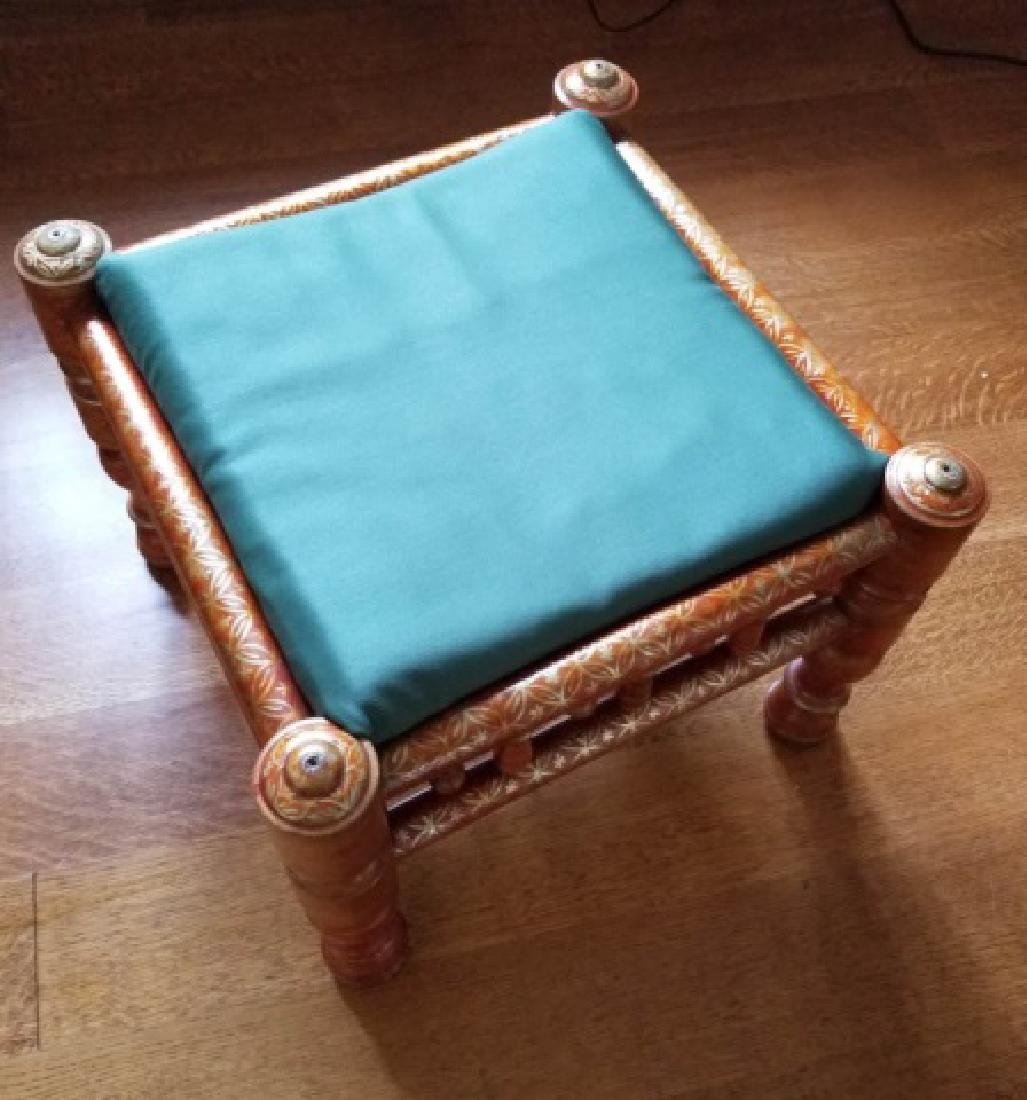 Pair Antique Handmade Punjabi Style Wedding Chairs - 4