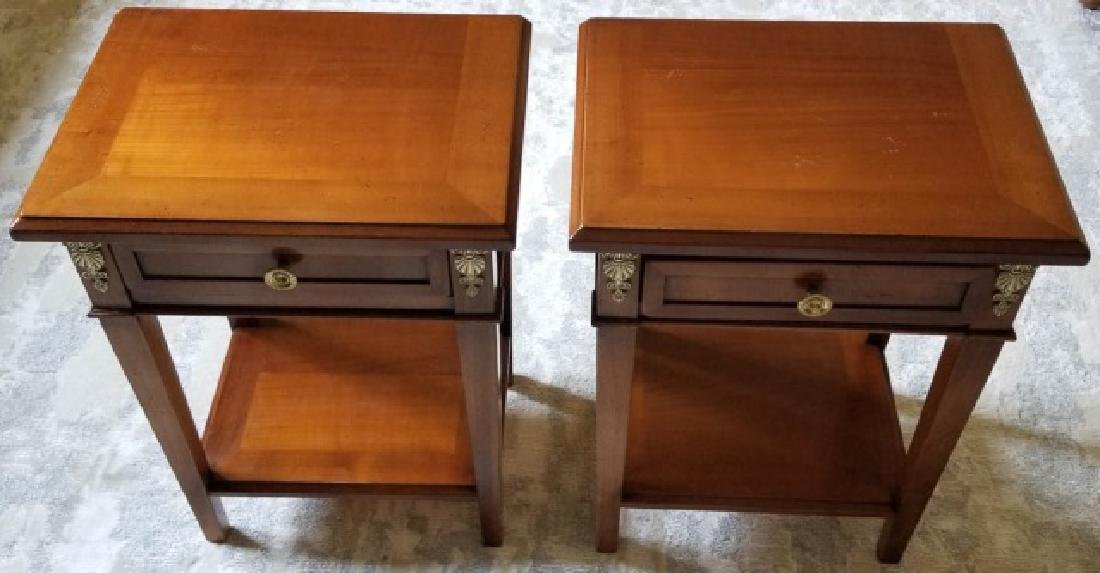 Pair Empire Style End Tables / Night Stands