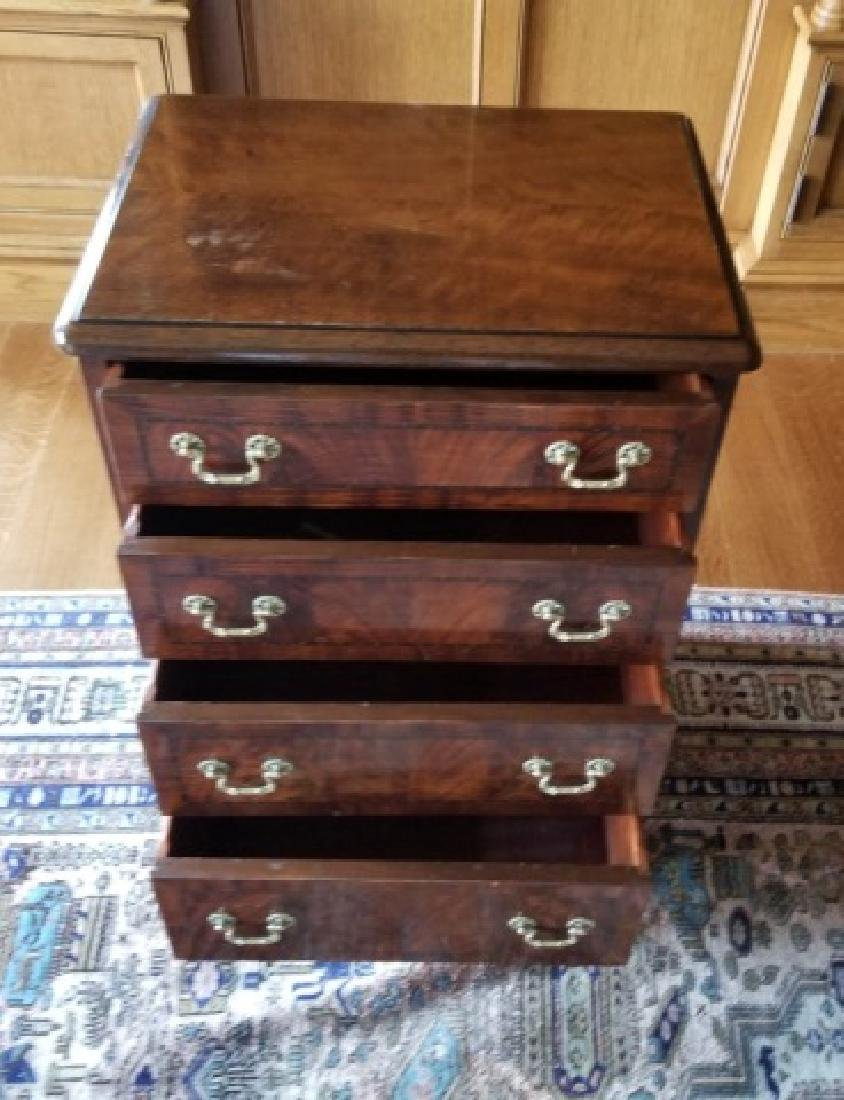 Pair Mahogany Four Drawer Night Stand End Tables - 3