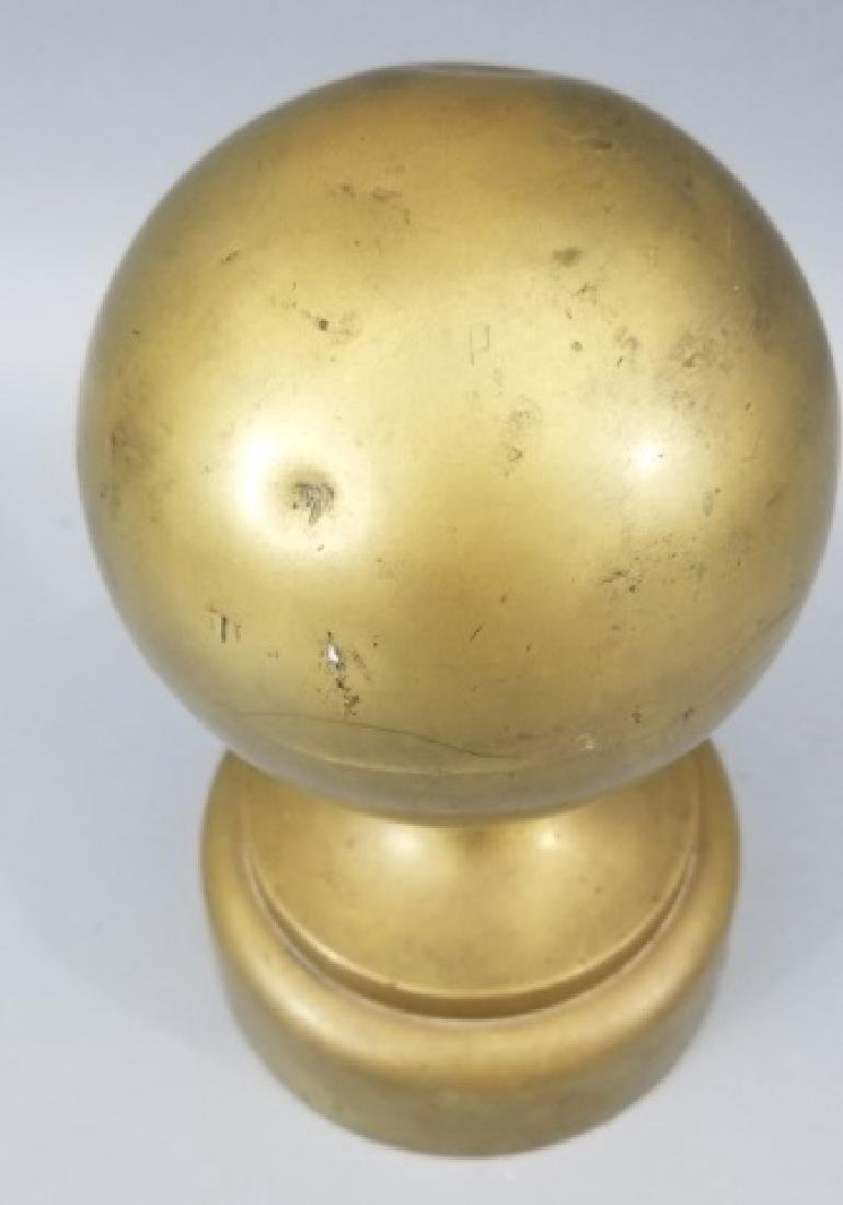 Antique Architectural Brass Newel Post Finial - 4