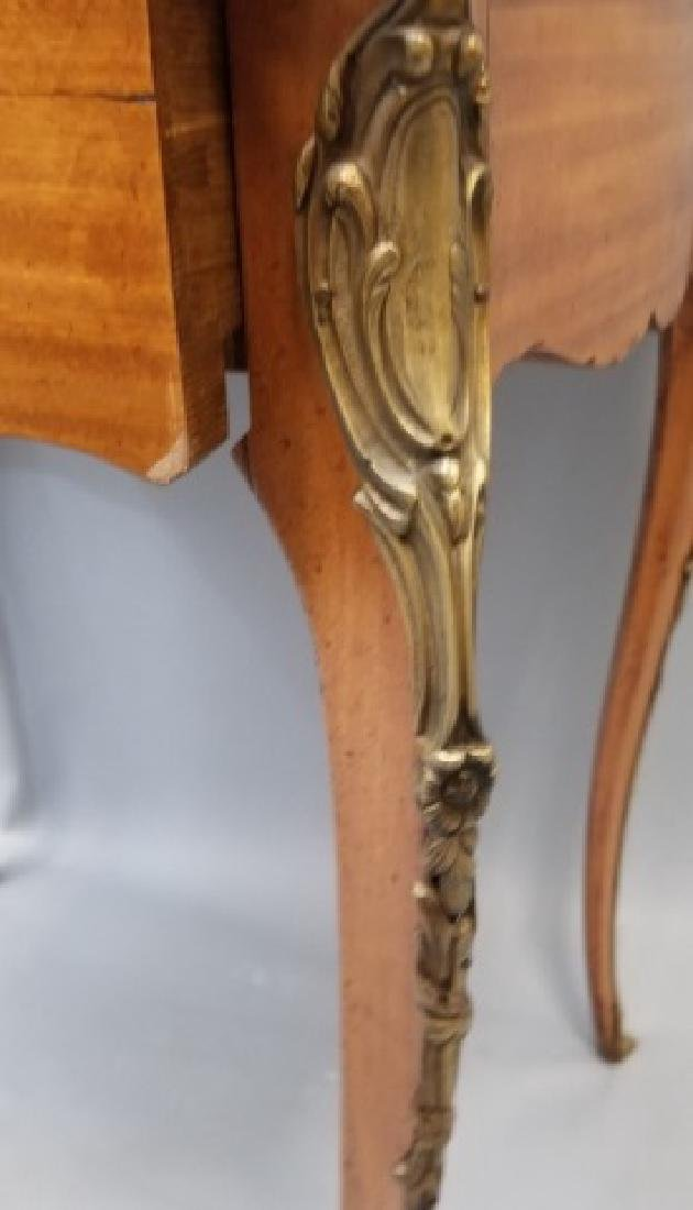 French Empire Style Leather Top Gilt Bronze Table - 5