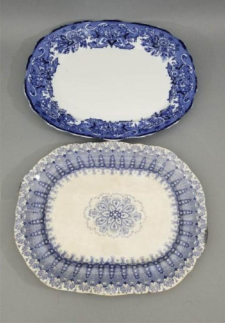 Two Antique 19th C English Transferware Platters