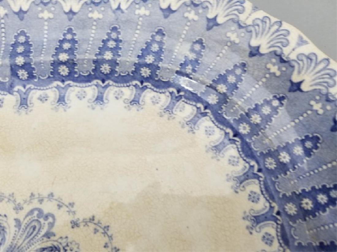 Two Antique 19th C English Transferware Platters - 5