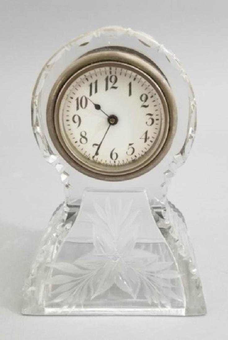 New Haven Clock Co Antique Cut Crystal Clock