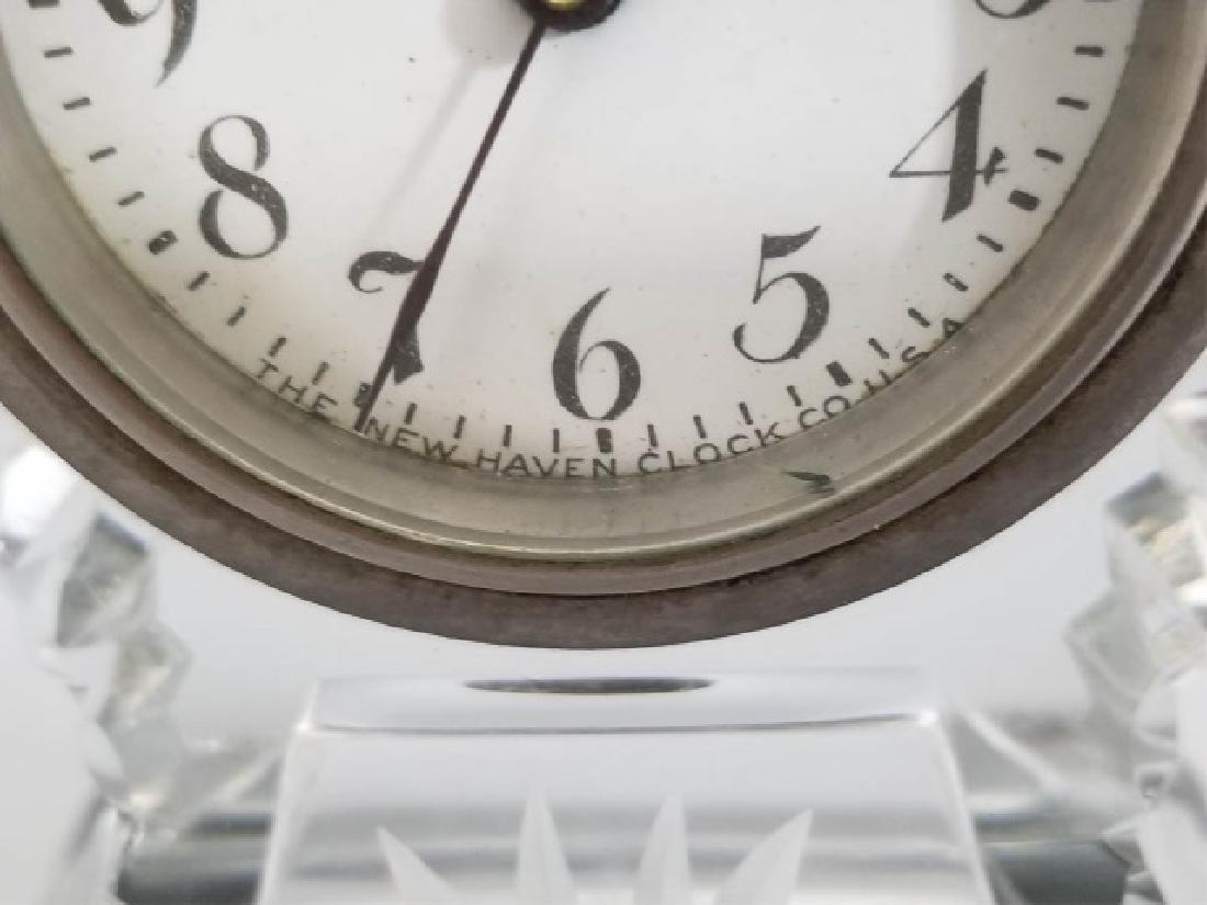 New Haven Clock Co Antique Cut Crystal Clock - 2