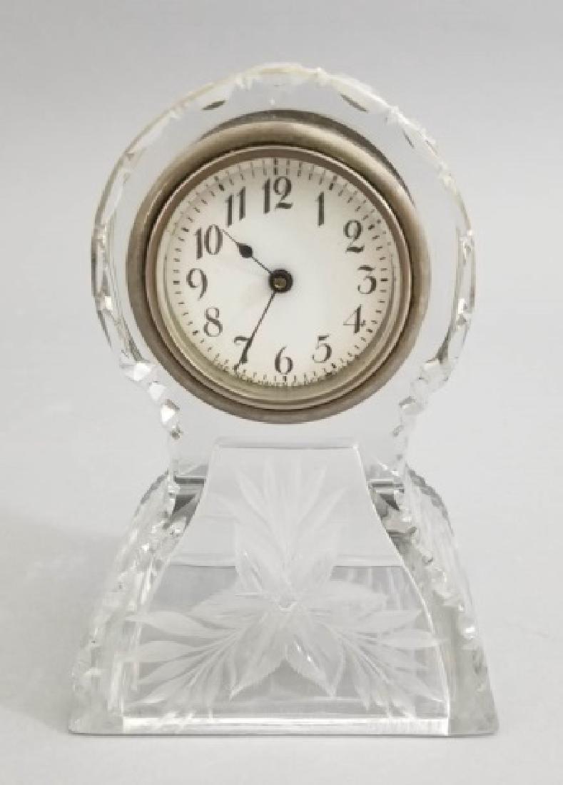 New Haven Clock Co Antique Cut Crystal Clock - 3