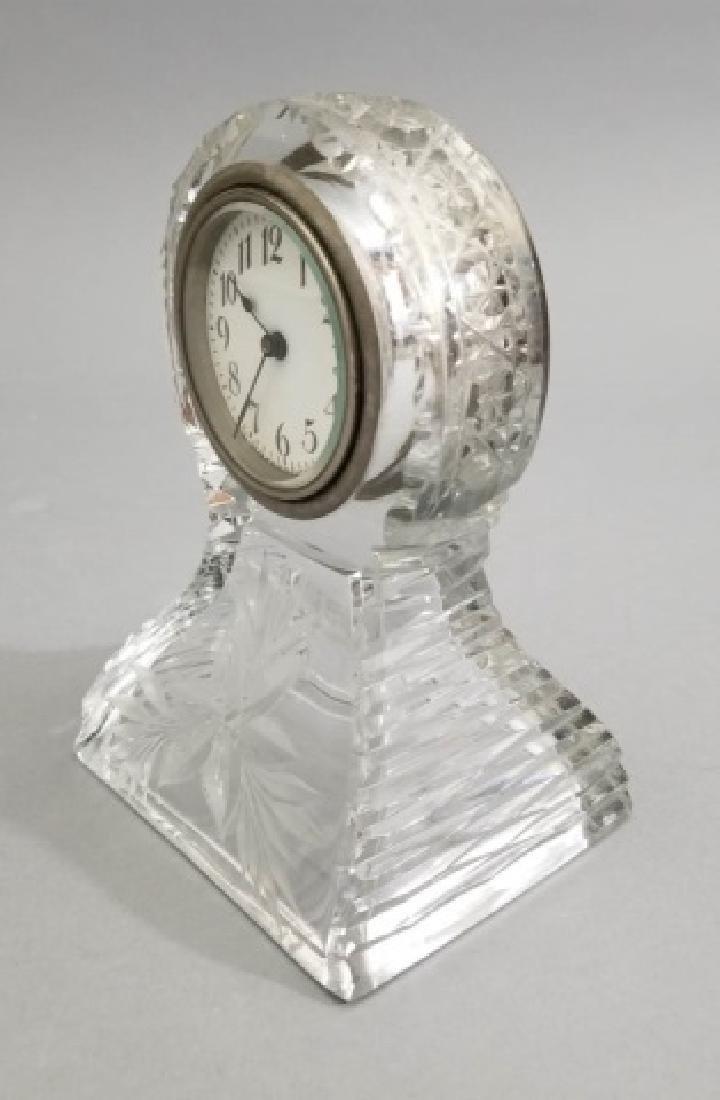 New Haven Clock Co Antique Cut Crystal Clock - 5