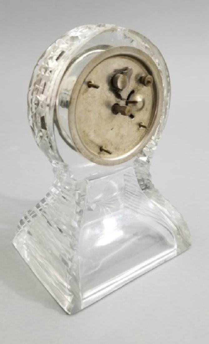 New Haven Clock Co Antique Cut Crystal Clock - 6