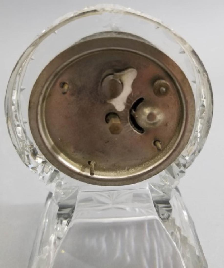 New Haven Clock Co Antique Cut Crystal Clock - 7