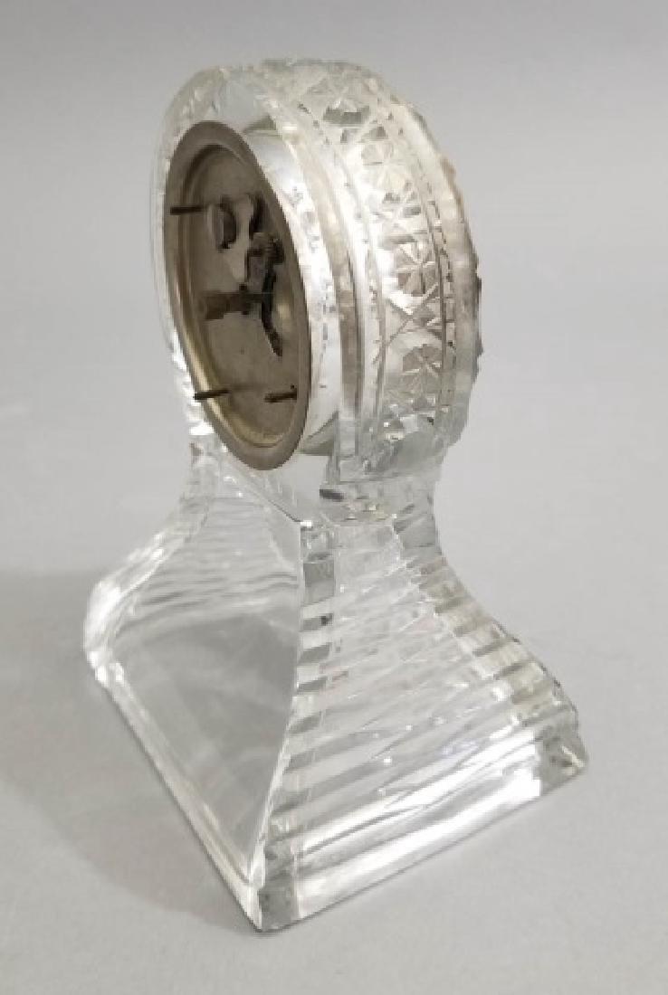 New Haven Clock Co Antique Cut Crystal Clock - 8