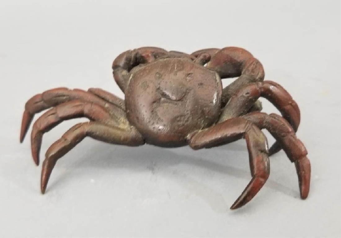 Antique Vienna Style Miniature Bronze Crab Statue - 2