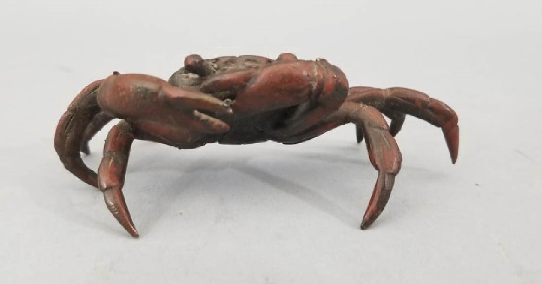 Antique Vienna Style Miniature Bronze Crab Statue - 3