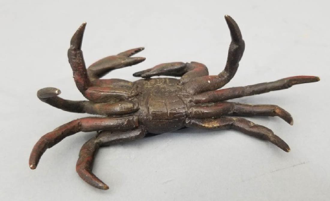 Antique Vienna Style Miniature Bronze Crab Statue - 7