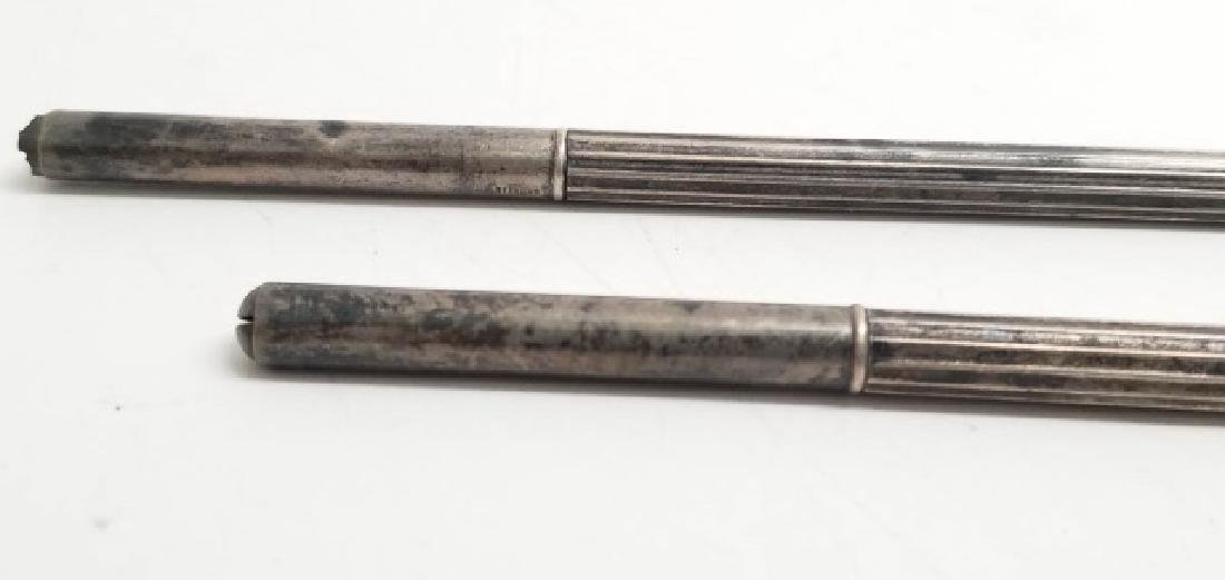Three Antique Sterling Silver Pens - 3