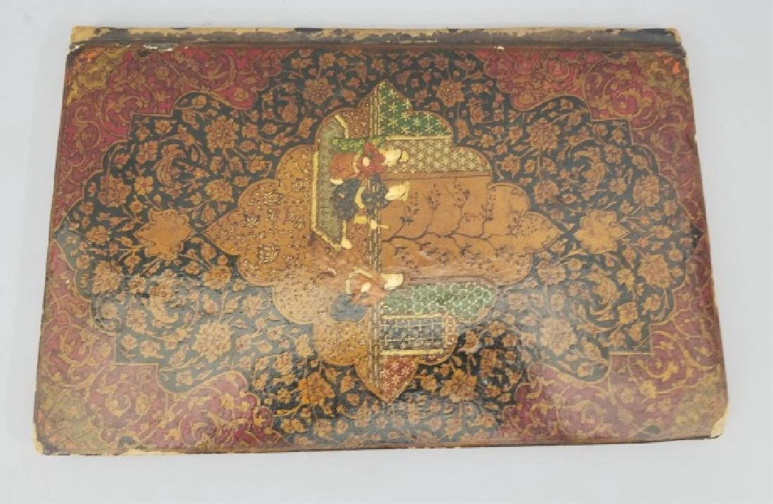Persian Hand Painted & Gilt Decorated Portfolio