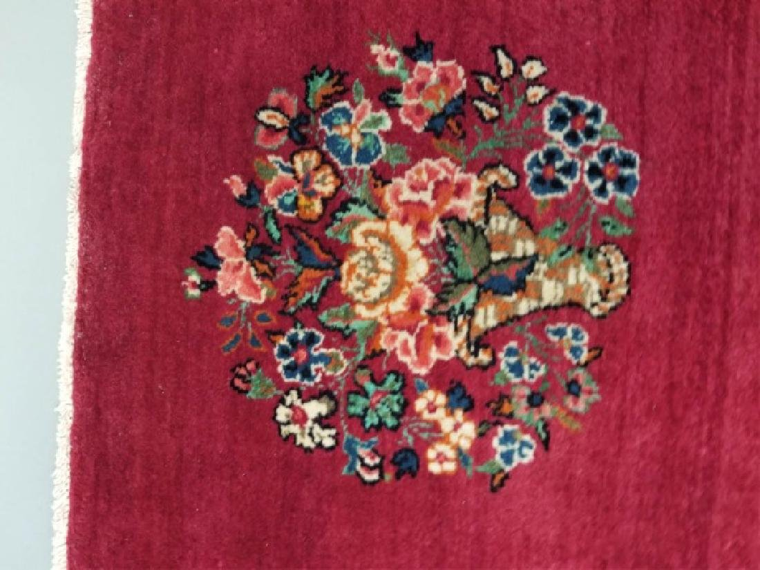 2 Antique Hand Knotted Wool Floral Bouquet Carpets - 5