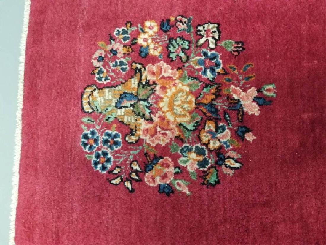 2 Antique Hand Knotted Wool Floral Bouquet Carpets - 6