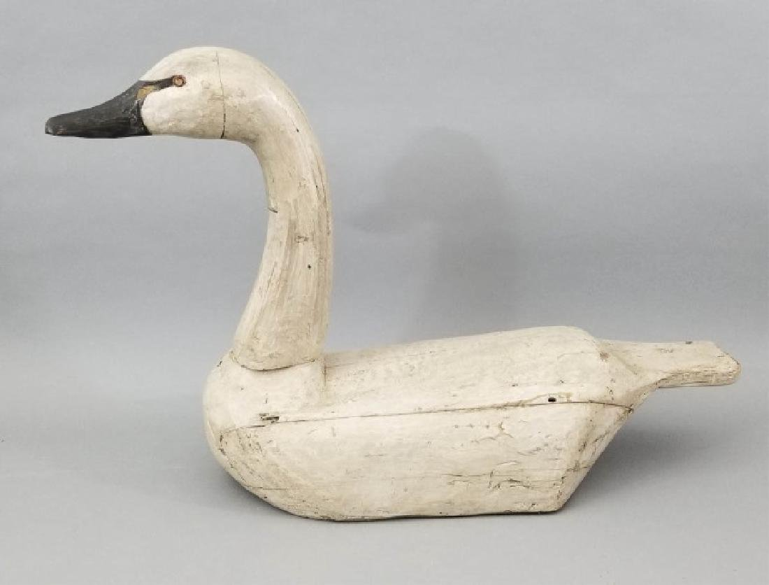 Hand Carved Painted Wooden Swan Decoy PDF
