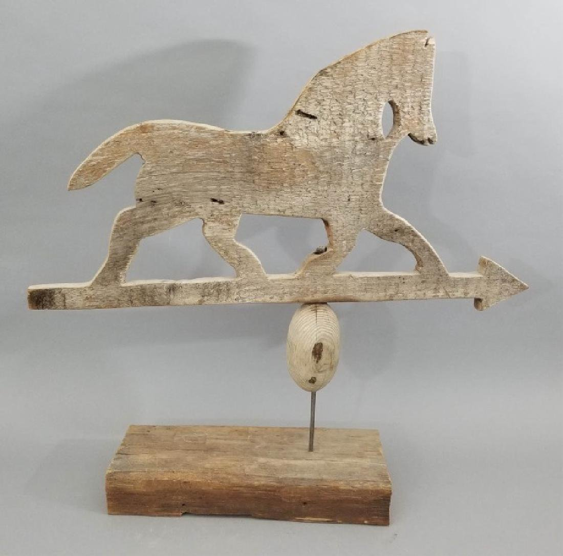Antique Folk Art Running Horse Wooden Weathervane