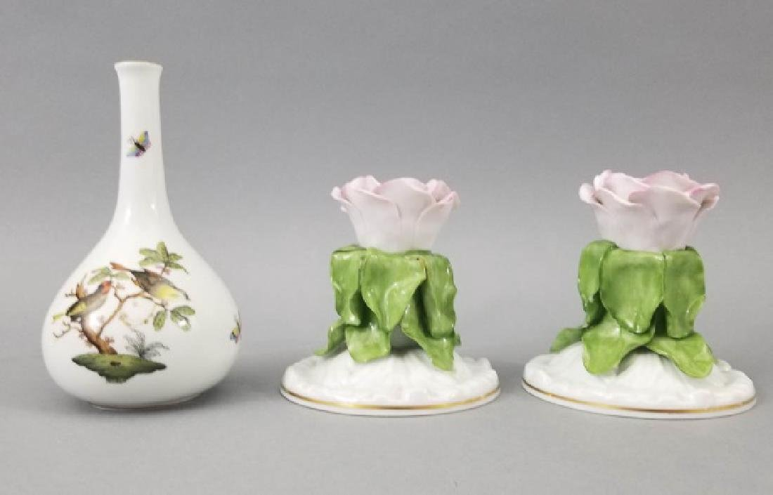 Three Pieces of Herend of Hungary Porcelain Items