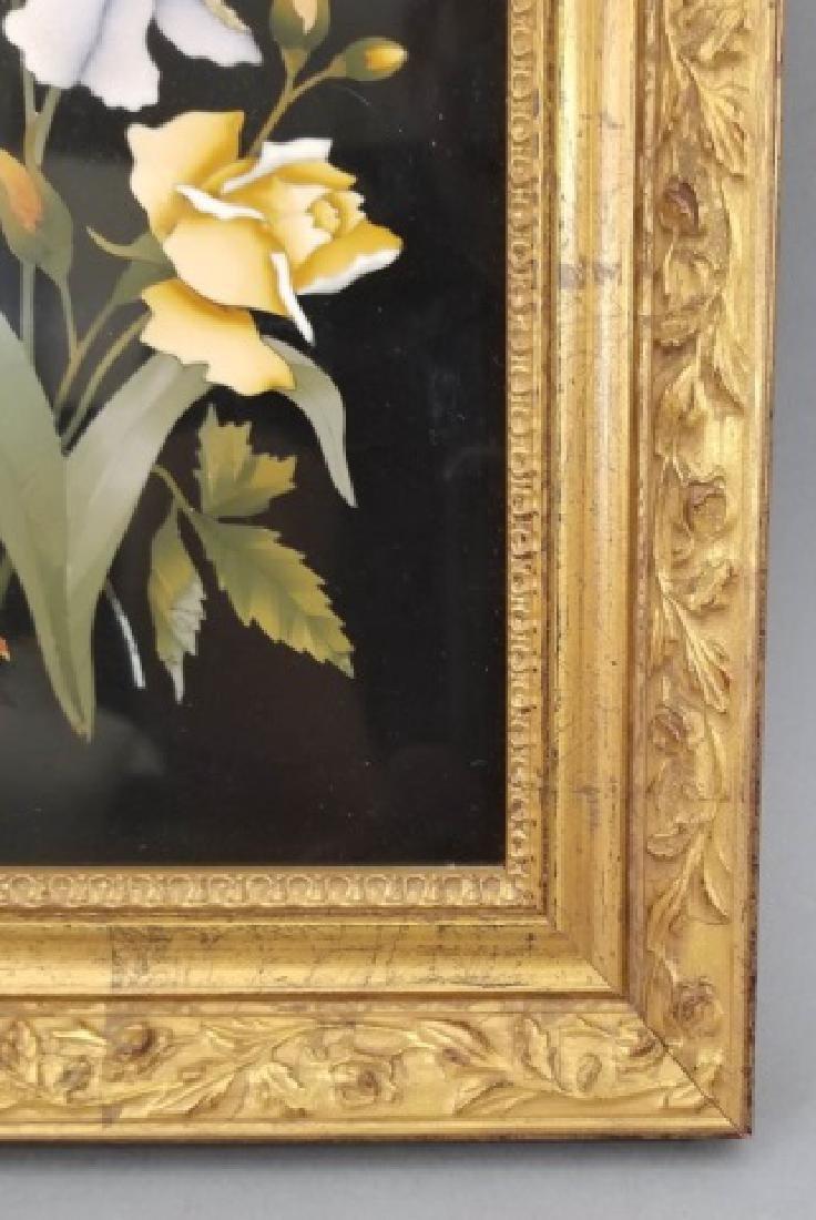 Pietra Dura Italian Floral Still Life Frame Plaque - 3