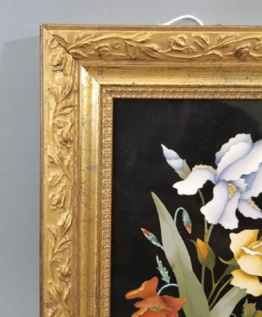 Pietra Dura Italian Floral Still Life Frame Plaque - 5
