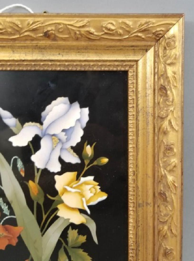 Pietra Dura Italian Floral Still Life Frame Plaque - 6