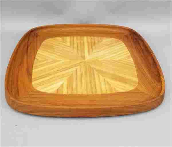 Vintage Danish Modern Teak Wood Serving Tray