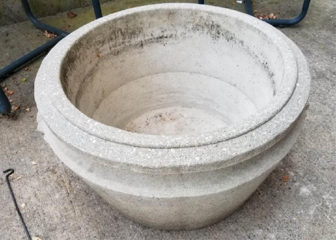 Concrete Outdoor / Garden Planter w Scroll Handles
