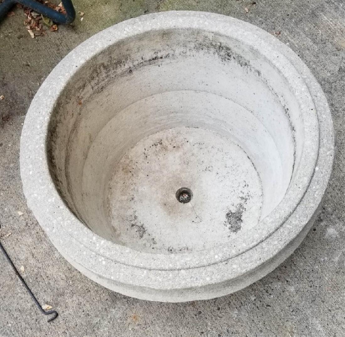 Concrete Outdoor / Garden Planter w Scroll Handles - 4