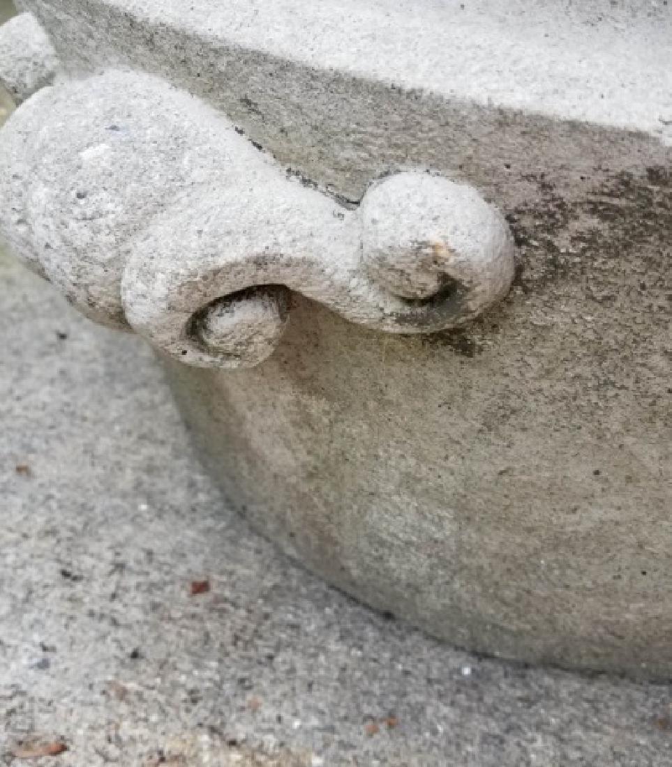 Concrete Outdoor / Garden Planter w Scroll Handles - 6