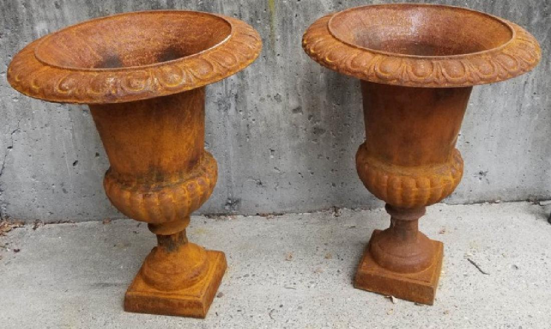 Cast Iron Victorian / Neo Classical Garden Urns - 2