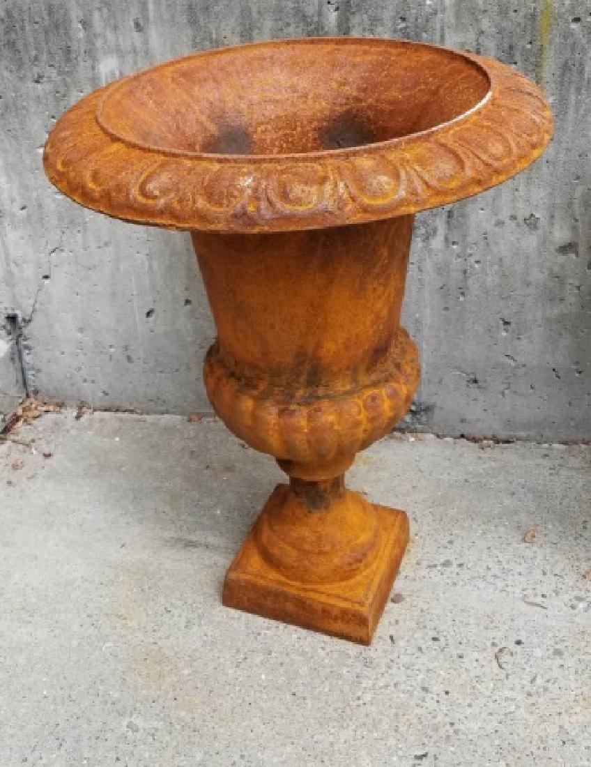 Cast Iron Victorian / Neo Classical Garden Urns - 4