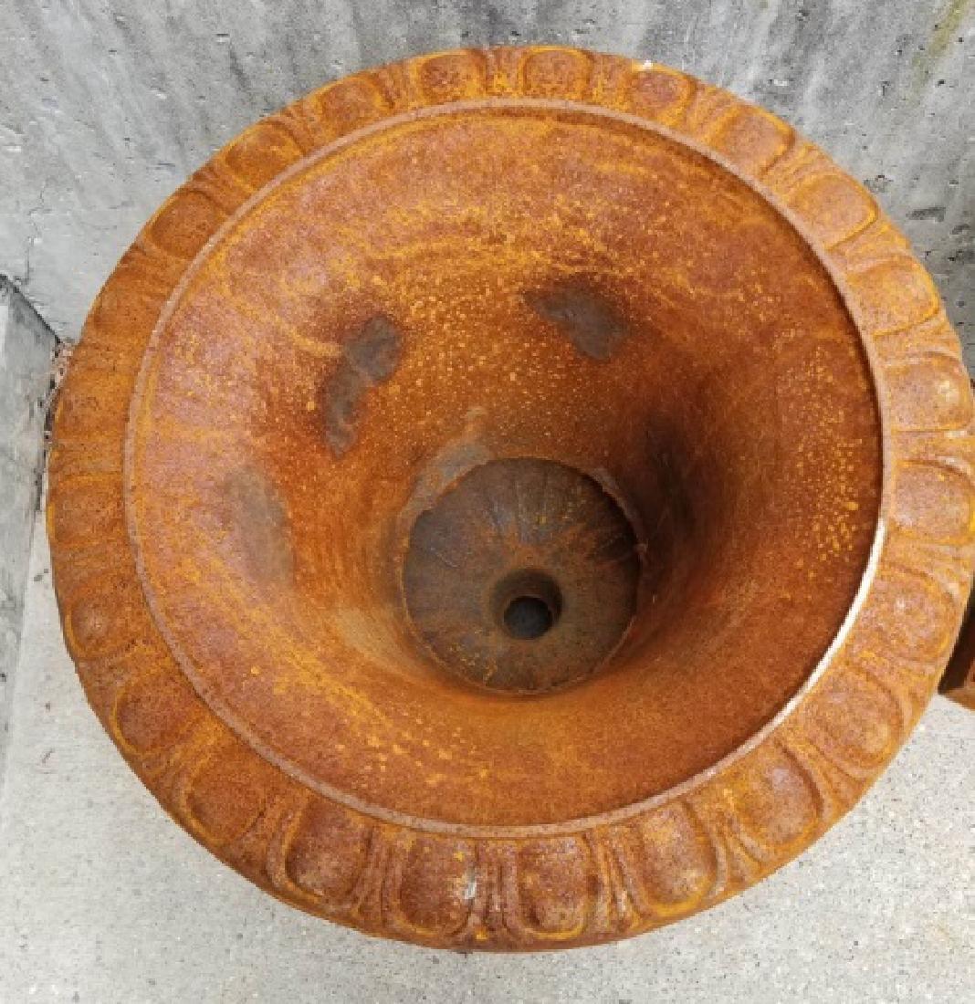 Cast Iron Victorian / Neo Classical Garden Urns - 6