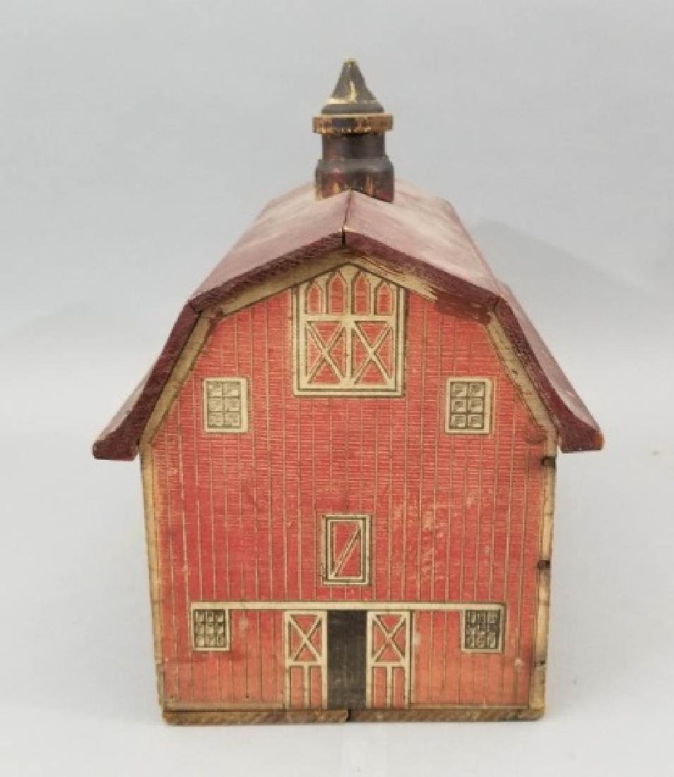 Antique Lithographed Wood Toy Barn Dollhouse Size - 2