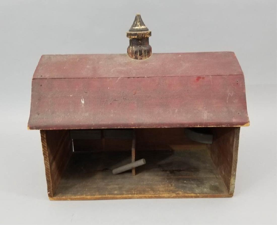 Antique Lithographed Wood Toy Barn Dollhouse Size - 3