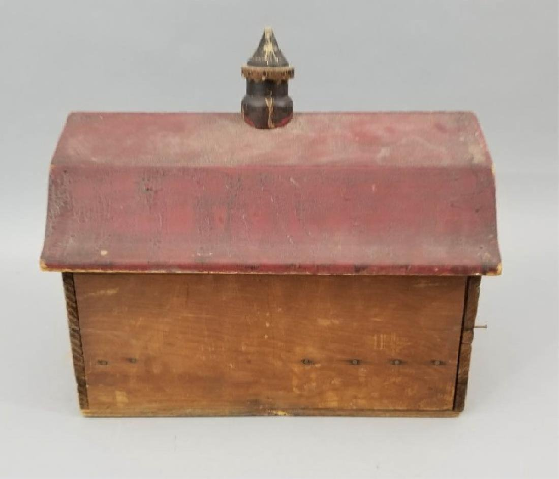 Antique Lithographed Wood Toy Barn Dollhouse Size - 5