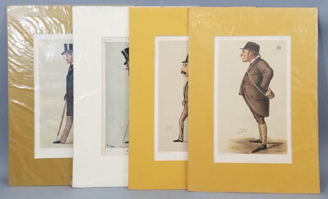4 19thC Orig Lithos Vanity Fair -Statesmen & Men
