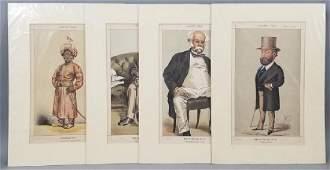 4 19thC Orig Lithos Vanity Fair - Men of the Day
