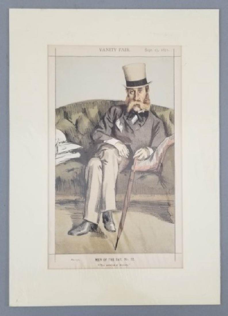 4 19thC Orig Lithos Vanity Fair - Men of the Day - 9